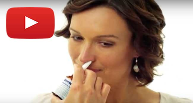 How to use a Dymista nasal spray