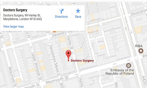 foresight harley street medical centre location map